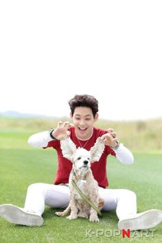 Sangdo <3 two cute puppies ❤️