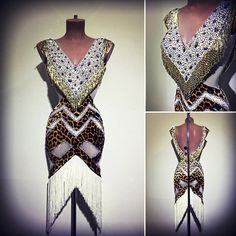 #abrahammartinez #newdress #latin #design #white #animalprint #cristal #auroraboreal #swarovski #forsale FOR SALE!!