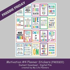 Happy Friday! Sometimes you need a little motivation to get you back into schedules and school. This week's feature for Freebie Friday is colorful and bright Motivation Planner Stickers. These can be used to decorate your planner or to include in your child's lunch and give them some positive reinforcement to get them through theRead More