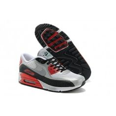 premium selection 60616 3d207 Air Max 90 Blanc Grise Rouge Homme Pas Cher Chaussure Nike Air, Chaussures  Nike,