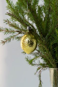 Lemon Vintage Christmas bauble Christmas glass by TimeTestedFinds