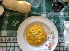 Pumpkin and gorgonzola risotto, a Gualdora specialty dish prepared by Stefano. My favorite and perfectly paired with Gualdora's Gutturnio Superiore Otto