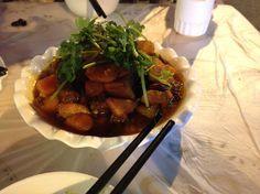 Spicy potatoes. Chongqing, China