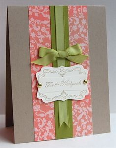 Stamps: Four Frames & Teeny Tiny Wishes Ink: Crumb Cake Paper: Kraft, Old Olive & Paisley Petals dsp Accessories: Decorative & Modern Label Punches, Old Olive Taffeta Ribbon (retired), Paper Piercer & brads