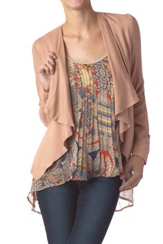 Asymmetrical Open Blazer $14.99