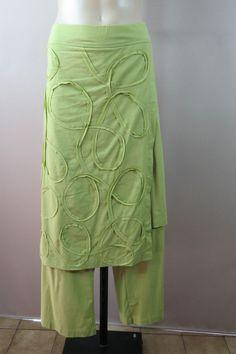 Plus Size 2XL TS Taking Shape 18 Ladies Green Skants Dress Pants Boho Casual