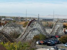 Classic roller coaster, Lagoon Amusement Park, Farmington, Utah. #Lagoon