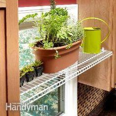 Easy Storage Ideas - Article: The Family Handyman Home Upgrades, Organization, Storage And Organization, Simple Storage, Storage Spaces, Wire Shelving, Cabinet Door Storage, Plant Shelves, Storage