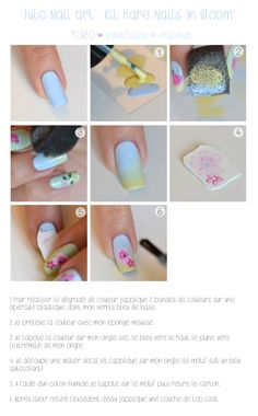 Simple Nail Art With Rare Nails In Bloom Kit