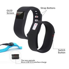 Fitness Tracker Watch - Hiro23 Best Fitness Activity Tracker Watch, Pedometer, Step Counter, Calorie Counter, Distance, Sleep Monitor, Bluetooth 4.0 for Android 4.4 or IOS 7.1 and above ONLY. (Black) * Check this awesome product by going to the link at the image. (This is an affiliate link) #SmartWatchWithHeartRate
