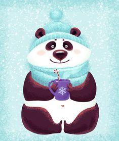 Посмотреть иллюстрацию Маргарита Кухтина - Панда. Добрая, зимняя :)