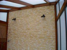 Wand mit Steinoptik