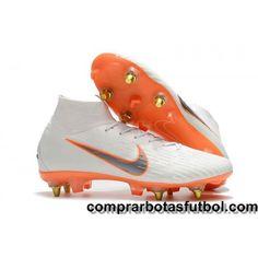 34b6f95cc Baratos Botas De Futbol Nike Mercurial Superfly VI Elite SG AC Blanco Gris  Naranja