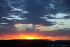 Sky on fire - Orange glow Sunset Sunset Sky, Public Domain, Glow, Fire, Clouds, Orange, Nature, Photos, Outdoor