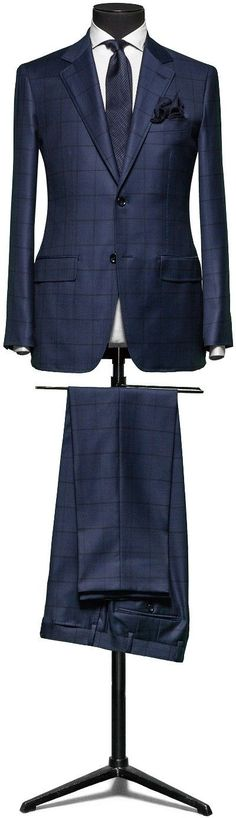 Men's #Fashion: Bespoke suit, Love the pattern and color. Fashion Items That Changed The World: http://vid.staged.com/zoVr
