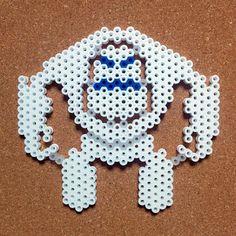 Marshmallow Snow Monster - Frozen perler beads by tentenyama