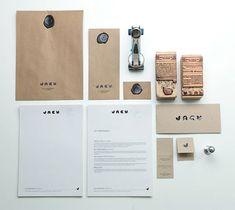 papelería corporativa - papel kraft