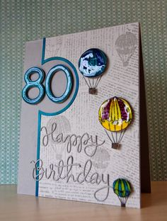 Simon Says Stamp Spotted An80th Birthday Card By Jill Vickers Using Exclusives 80th CardsHandmade