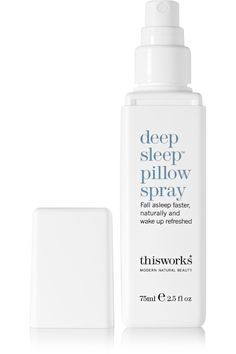 A natural, sleep aid spray that helps calm your nerves so you can relax. This Works Deep Sleep Pillow Spray Matthew Williamson, Deep, Stress Relief Gifts, Patchouli Oil, Relaxation Gifts, Lavender Scent, Good Night Sleep, How To Fall Asleep, Shopping