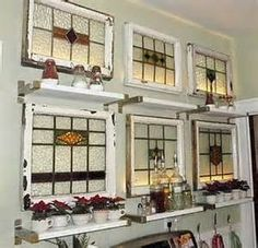 love old window ideas | Old windows