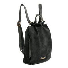 Τσάντα πλάτης ανθρακί, με άνοιγμα στο πίσω μέρος, δύο πλαϊνές τσέπες με…