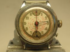 Military Pierce Chronograph 1 Pusher 1940`s RAF Used All Original Working RARE | eBay