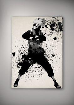 Image of naruto - Sasuke - Itachi - Sharingan - Uchiha - Madara - Kakashi watercolor print poster n206