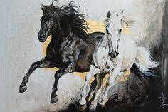 Toiles passées - past paintings — Elise Genest Painted Horses, Pretty Horses, Beautiful Horses, Horse Drawings, Art Drawings, Wild Horses Running, Horse Oil Painting, Oil Pastel Colours, Horse Artwork