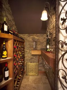 Yes! Closet under the stairs turned into wine cellar! - sublime decor