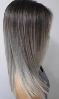 ombre hair with gray shades ash blonde and silver ombre