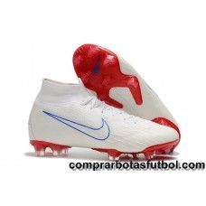competitive price 6a7e6 602e9 Moda Botas De Futbol Nike Mercurial Superfly VI 360 Elite FG Blanco Rojo  Azul