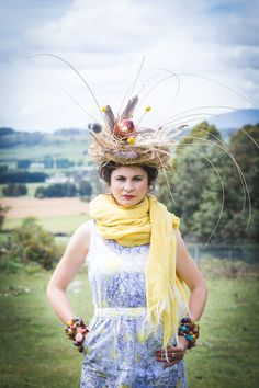Printed Linen dress, fashion Shoot Into The Wild by Emma Leslie Photography Summer 2015/16 Sustainable Fashion Wild at heart, ethical by nature! Sun merino woven scarf.