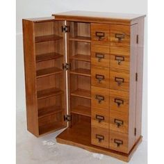 Merveilleux Leslie Dame Wood CD, DVD, Video Storage Cabinet With Library