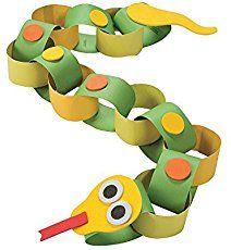 Snake Paper Chain Craft Kit - Less Than Perfect - Discontinued Vbs Crafts, Paper Crafts For Kids, Camping Crafts, Preschool Crafts, Crafts For Children, Crafts For Babies, Pasta Crafts, Bible Crafts, Kids Diy