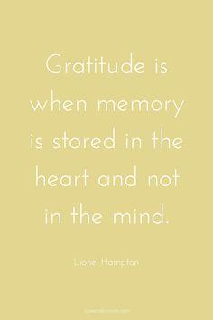 Beautiful gratitude quote from Lionel Hampton...| gratitude quotes | inspirational quotes |