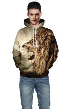 >> Click to Buy << New Fashion 2017 Hooded Shirts Men Printed 3D Animal Hoodies Casual Graphic Hoodie Funny Sweat Shirt Tie-dye Sweatshirts #Affiliate