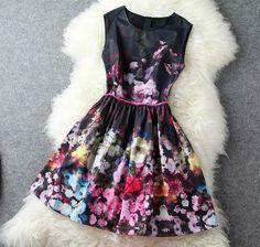 High-End Retro Sleeveless Vest Skirt on Luulla