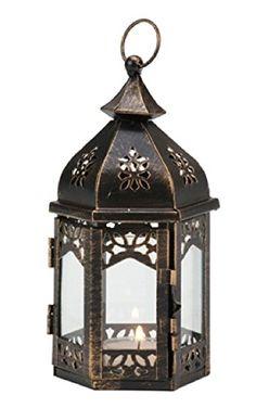 Biedermann  Sons Morrocan DaylightTealight Lantern Bronze * Amazon most trusted e-retailer #RusticFarmhouseDecor Candles And Candleholders, Lantern Candle Holders, Candle Lanterns, Candle Accessories, Wedding Lanterns, Rustic Farmhouse Decor, Tea Lights, Moroccan, Gazebo