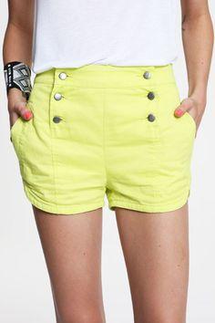 bright yellow shorts .. yes