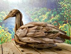 #DriftwoodArt #Duck by Jennifer Szczyrbak