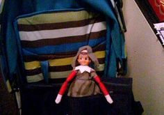 December 8th. Tonight I made Jaspers villager costume for his school play. Percy liked it so much he made himself a matching one and jumped into his book bag so he could go to school to