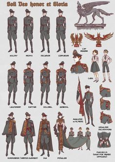 Nazy uniforms - part II by non-nobis-domine on DeviantArt Bad guy uniforms (nazi/Fascists) Fantasy Character Design, Character Design Inspiration, Character Concept, Character Art, Concept Art, Anime Military, Drawing Clothes, Character Costumes, Anime Outfits