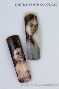 Realistic face color gel. Voss Bottle, Water Bottle, Nail Art, Nails, Face, Color, Finger Nails, Ongles, Colour