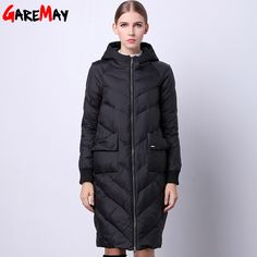 Parkas For Women Winter Duck Down Jacket Hooded Coat Long Loose Womens Winter Jackets And Coats Thick Manteau D'hiver Femme 2016