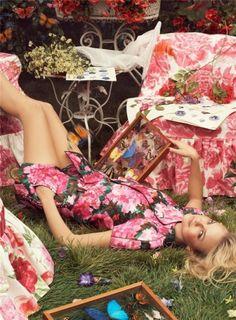 Caroline Trentini by Steven Meisel for Vogue