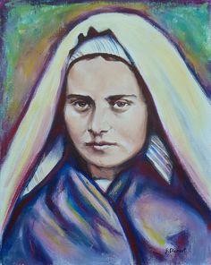 Artwork by Sheila Diemert... www.sheiladiemert.com St. Bernadette Soubirous, pray for us.