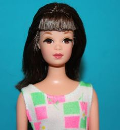 NEW-OOB-Vintage-BARBIE-Repro-Brunette-FRANCIE-Nude-ROOTED-LASHES-w-Swimsuit