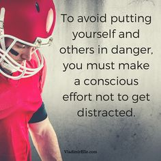 Be careful with the distractions in your life!