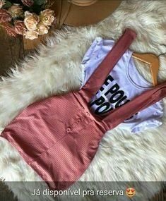 Overall dress and graphic tee Girls Fashion Clothes, Teen Fashion Outfits, Dope Outfits, Swag Outfits, Girly Outfits, Cute Casual Outfits, Simple Outfits, Cute Fashion, Outfits For Teens