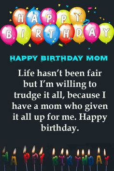 Best Birthday Wishes For Mom Quotes Relationships 58 Ideas Famous Birthday Quotes, Happy Birthday Mom Quotes, Birthday Cards For Mother, Happy Birthday Mother, Birthday Wishes For Mom, Happy Mother Day Quotes, Birthday Wishes Messages, Cute Birthday Gift, Birthday Blessings